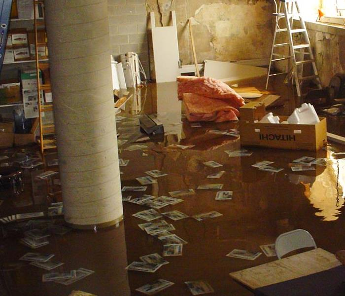 Water Damage Flooded Basement Cleanup and Restoration